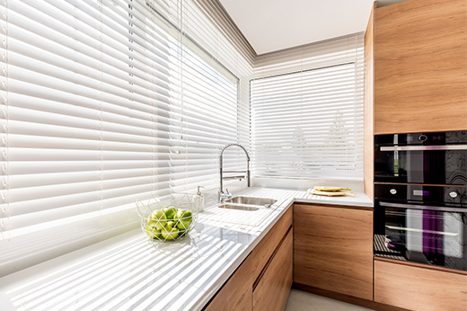 Blinds in Kitchen