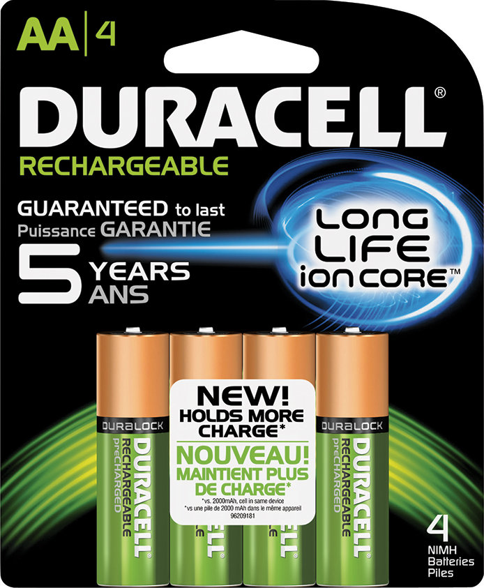 Rechargeable Duracell AA Batteries